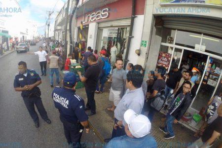 Liberan de puestos informales las calles del centro de Mérida