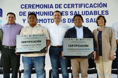 Certifican a Yaxnic y Dzununcán como Comunidades Saludables