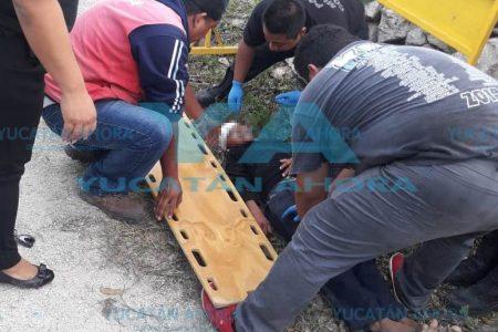Se le fractura el cráneo a un menor de edad al salir lanzado de una motocicleta