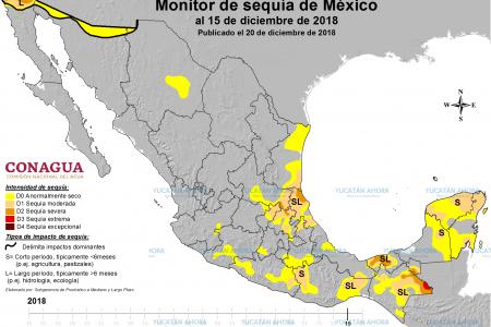 Una cuarta parte de la Península de Yucatán está afectada por la sequía