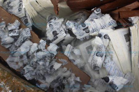 Destruyen material electoral usado en los comicios del 1 de julio