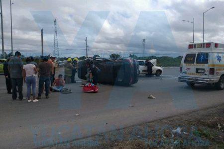 Choque arruina paseo juvenil en el norte de Mérida