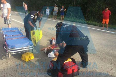 Paseo familiar acaba en tragedia en la autopista Mérida-Cancún