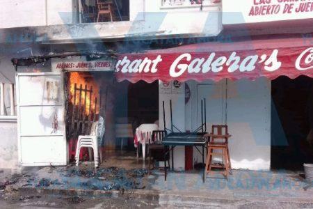 Quiso cambiar tanque de gas sin cerrarlo… casi quema su restaurante