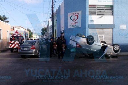 Fuerte choque en el centro de Mérida