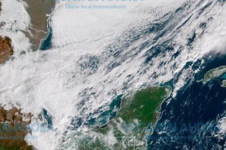 Llega a Yucatán el frente frío 16: ya se sienten sus nublados y vientos