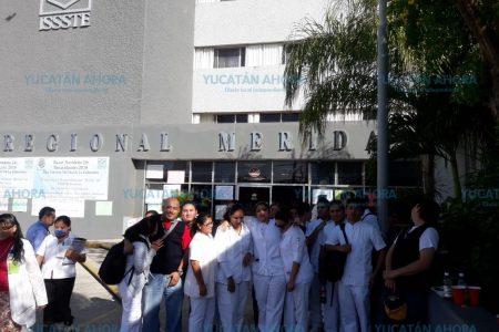 Trabajadores denuncian desastre en el Hospital del Issste en Mérida