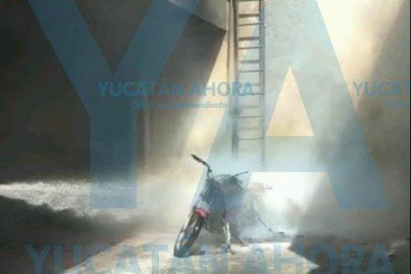 Incendios y más incendios: ahora una moto en céntrica refaccionaria
