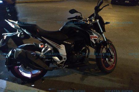 Quiso manejar motocicleta ajena