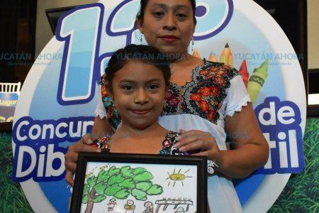 Yucateca obtiene primer lugar en concurso nacional de dibujo