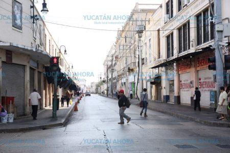 Calles de Mérida amanecen limpias de basura… y vacías de gente