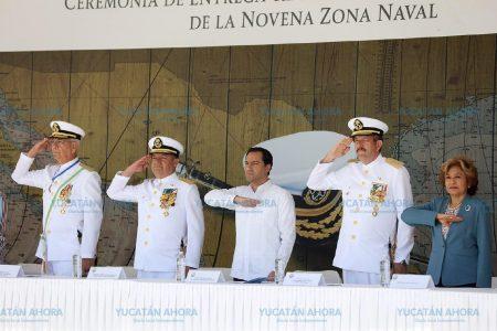 Cambio de mando en la IX Zona Naval de Yucalpetén