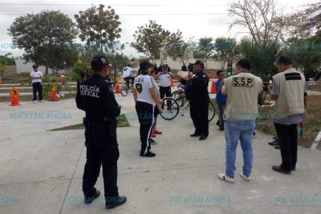 Policías de la SSP Yucatán, buenos vecinos
