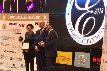 Yucatán recibe el premio Excelencias Turísticas en Madrid