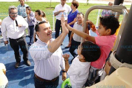 Finalizan el primer parque de Mérida diseñado por vecinos de Ciudad Caucel