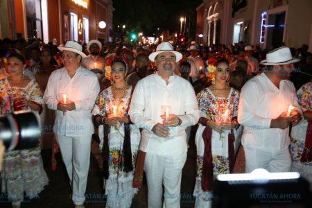 Emotivo inicio de los festejos a Mérida