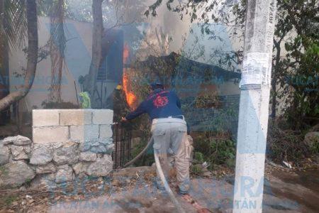 Abuelito pierde su humilde cocina en un incendio