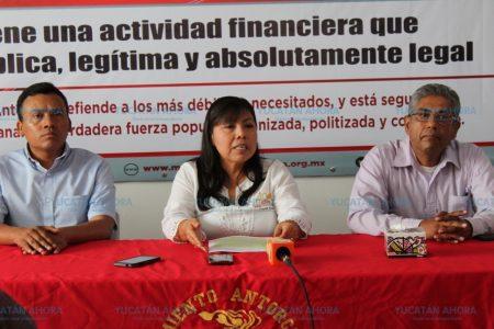 Nuestra actividad es pública, legítima y absolutamente legal: Antorcha Yucatán