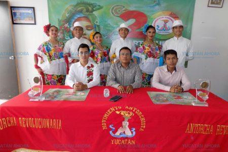 Participan 150 yucatecos en Espartaqueada Cultural Antorchista