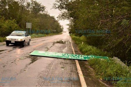 Sur de Yucatán evalúa daños y beneficio por la lluvia del domingo