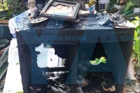 Por dejar una veladora prendida se incendia casa de adulto mayor