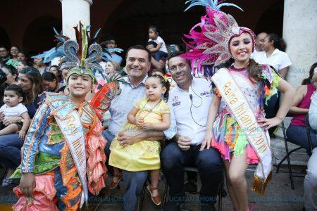 Toman las calles de Mérida los súbditos más pequeños de Momo