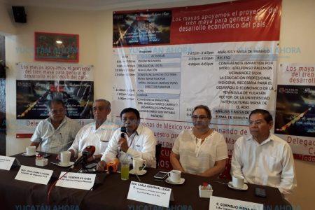 Indígenas peninsulares dan su apoyo al Tren Maya