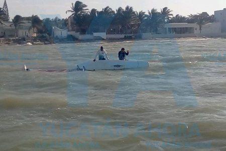 Rescatan embarcación en Chicxulub Puerto
