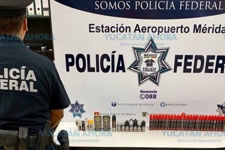 Decomisan en Mérida cigarros electrónicos con aceite de marihuana