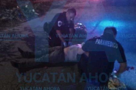 Otra de borrachos: vecino de Kanasín derrapa con su moto en el Periférico