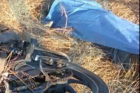 Muere al derrapar alcoholizado con su moto