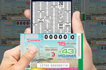 De nuevo cae en Mérida el premio mayor de la Lotería Nacional