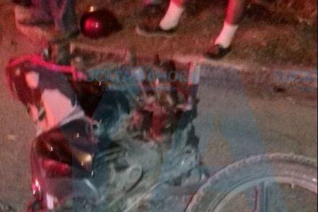 Iban en moto con niño de dos años, ignoran el alto y acaban heridos