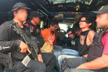 Detenidos en Motul practicaban tiro en el monte con un fusil R15