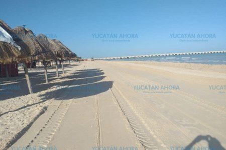 Sorprende limpieza de la playa de Progreso