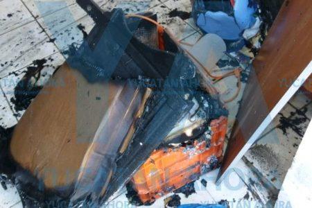 Arrumbado videojuego causa incendio en casa de adultos mayores