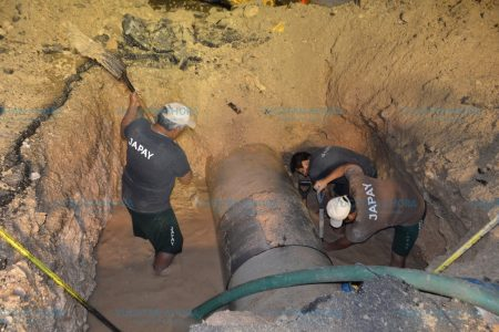 Reducen desperdicio de agua por fugas en Mérida