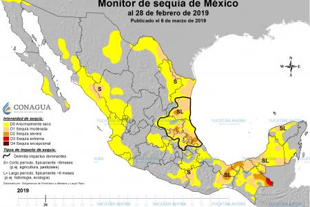 La costa y el centro de Yucatán ya resienten la sequía 2019