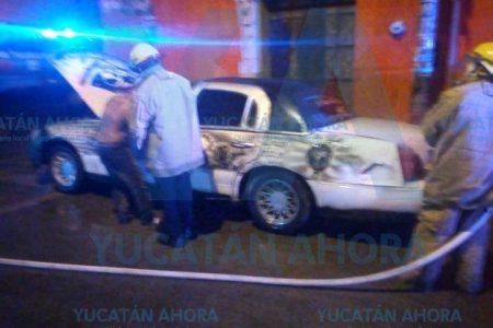 Se incendia vehículo estacionado en Peto