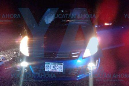Trágico accidente en la Mérida-Tizimín: ciclista invade el carril de un auto