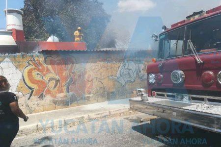 Oportuna visita a su sobrino: descubre un incendio en la casa