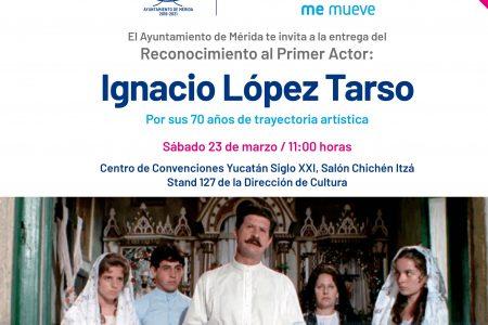 Mérida reconoce trayectoria Ignacio López Tarso
