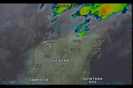 Lluvias del frente frío bañan Yucatán; hay pronóstico de turbonadas