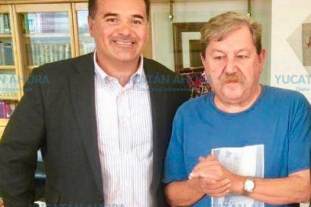 Renán Barrera, en busca de apoyos para mejorar la calidad de vida en Mérida