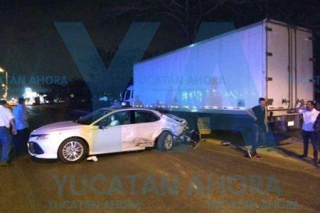 Accidente con cuatro vehículos involucrados