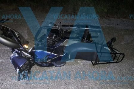 Derrapan amigos motociclistas: uno de ellos muere
