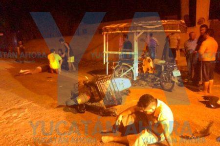 Ebrio motociclista choca contra un mototaxi: dos heridos