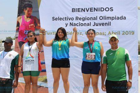 Atletas yucatecos inician su actuación en regional de Chiapas