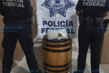 Envían a Mérida barril con marihuana