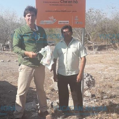 Inaudito: de nuevo ya hay basura en el cenote de Dzityá